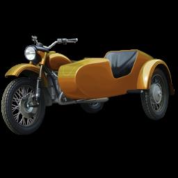 Иконка мотоцикла с люлькой