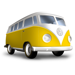 Значок серебристого микроавтобуса
