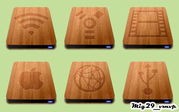 скачать иконки, деревянные девайсы