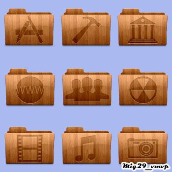 Скачать значки и иконки из дерева и фанеры