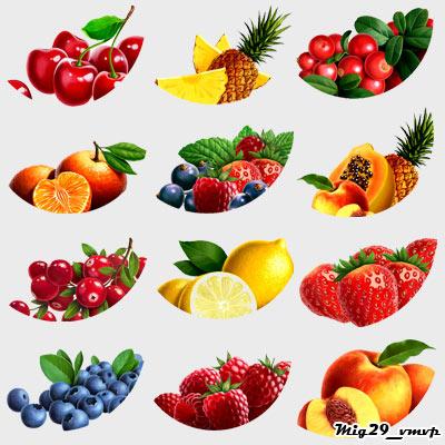 скачать иконки, фруктовое, ягодное ассорти
