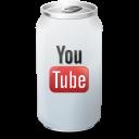 иконка Youtube, банка