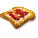 значки завтрака, хлеб