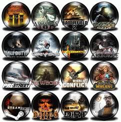 коллекция игровых иконок, скачать бесплатно