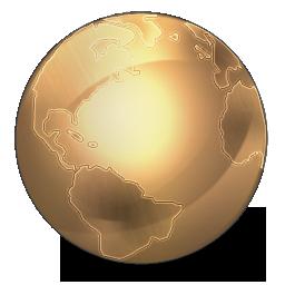 Классные золотистые иконки, скачать бесплатно