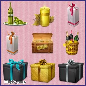 подарки, романтика, скачать иконки