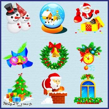 иконки новый год, скачать бесплатно