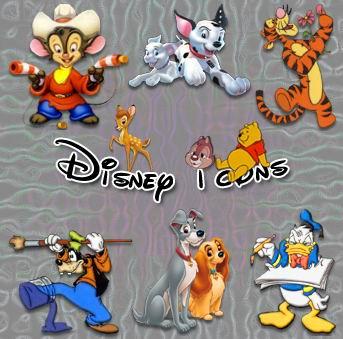 иконки мультфильмы Disney