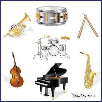 иконки музыкальные инструменты
