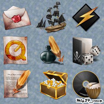 скачать пиратские иконки бесплатно