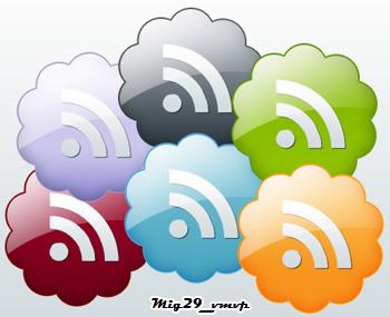 Иконки для РСС в виде облаков