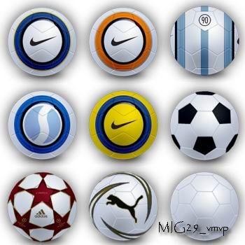 иконки футбольные мячи