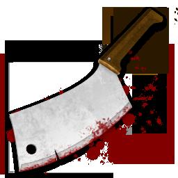 Ужасные иконки, скачать бесплатно, нож, топор, кровь
