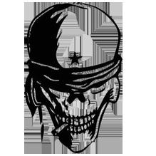 череп с мечом, скачать иконку бесплатно