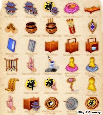 Бесплатно скачать азиатские иконки