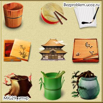 Скачать иконки китайской тематики бесплатно
