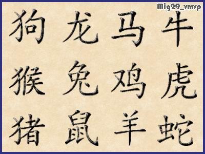 скачать иконки китайский зодиак, иероглифы