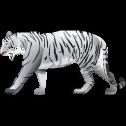 Значок в форме белого тигра