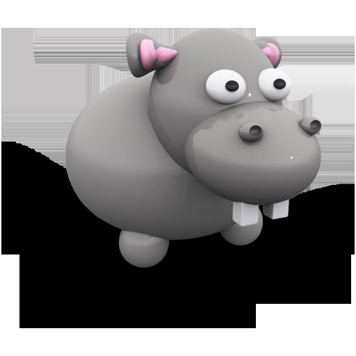 Иконка - игрушечный бегемот