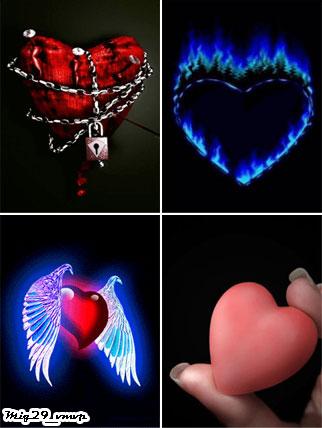 Анимированные обои на мобилу с сердечками