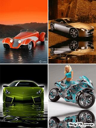 Скачать анимированные авто, для мобилы, вода