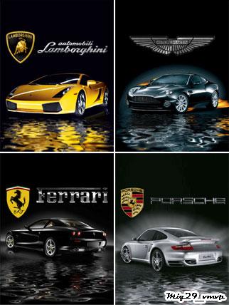 Обои для сотового, машины и логотипы, анимированные
