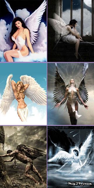 Скачать обои на мобилу Ангелы.