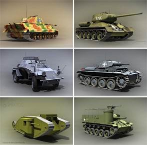 3D бронетехника скачать обои