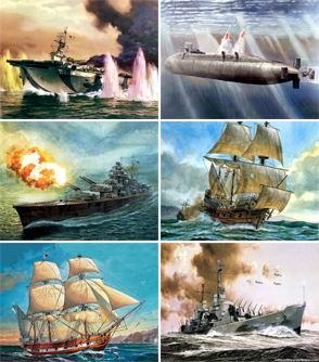 Скачать обои Флот в рисунках